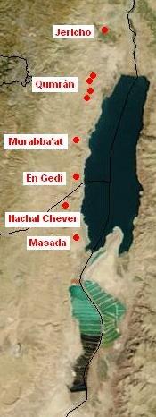 Localización de Qumran