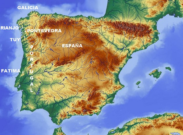 Apariciones galaicoportuguesas en el siglo XX