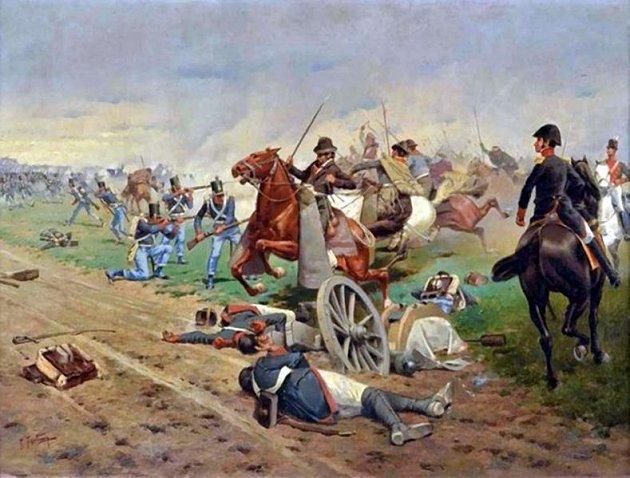 La Batalla de Tucumán pintura de Francisco Fortuny