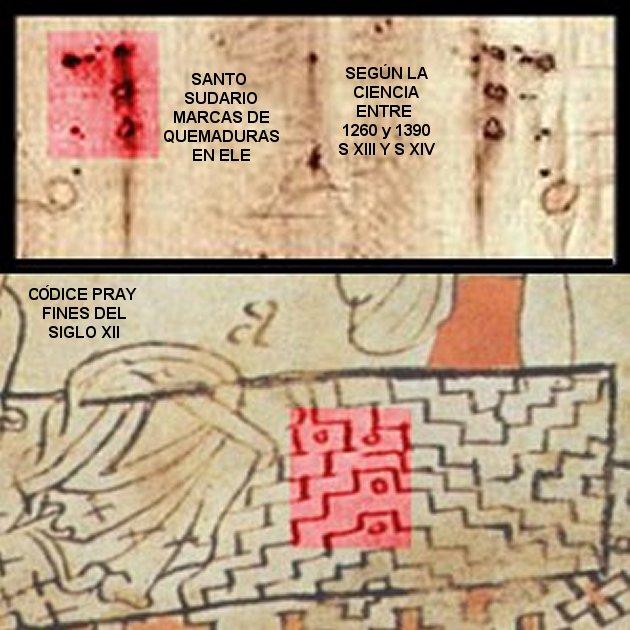Santo Sudario: marcas en ele