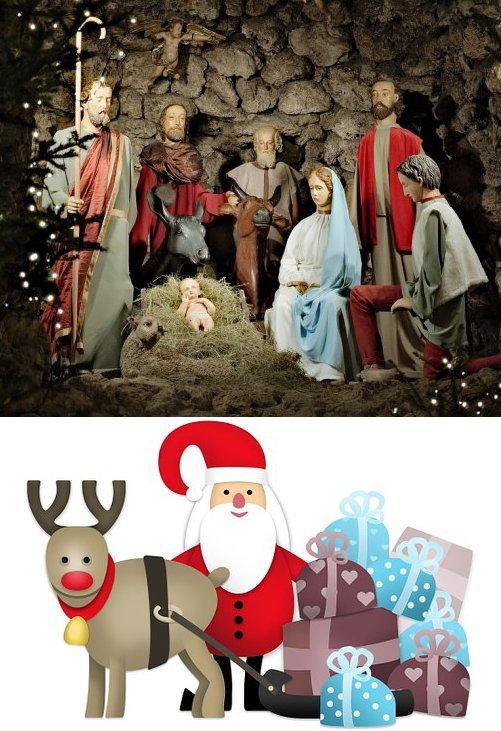 Navidad antigua y moderna