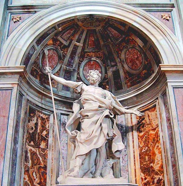 San Longino. Obra de Gian Lorenzo Bernini. 1629.
