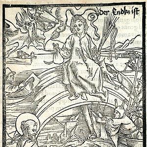Xilografia del anticristo