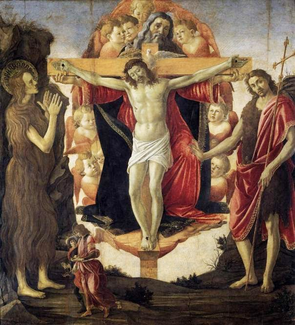 La Santisima Trinidad, obra del pintor renacentista Sandro Botticelli