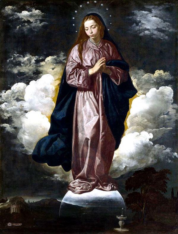 Inmaculada Concepción, pintura de Velázquez, c. 1618